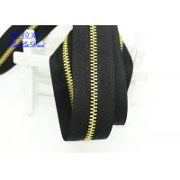 China H65 Brass 40 Inch  / 48 Inch Separating Zipper  , Heavy Duty Metal Zippers For Coats wholesale