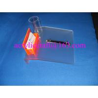 China Frosted acrylic desktop calendar stand with name card holder & pen holder wholesale