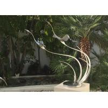 China Metal Bird Abstract Yard Sculptures / Metal Wave Sculpture For Indoor Decoration wholesale