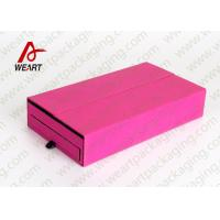 China Drawers Type Collapsible Paper Box , Retail Jewelry Cardboard Boxes With Logo wholesale