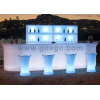 Quality Brand new nightclub Bar counter LED light up Glowing blue color coffee table for outdoor use for sale