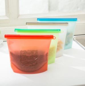 China custom printed FDA reusable cooking silicon freezer bags /reusable silicone food storage bag on sale