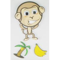 China Book Decor Cute Baby Monkey Stickers , Zoo Animal Print Kids Cartoon Stickers  wholesale