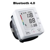 China Bluetooth 4.0 Wrist digital lcd blood pressure monitor portable Tonometer Meter blood pressure meter for iOS and Android wholesale
