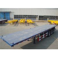 China Carbon Steel Flatbed Semi Trailer 40000kg With Dual Line Braking System wholesale