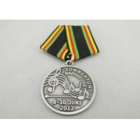 Quality Promotional Gift Brass / Copper / Zinc Alloy Custom Awards Medals with Special Ribbon, Die Stamping for sale