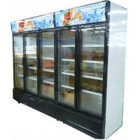 Quality Bottom Mount Glass Door Freezer , Automatic Defrost Glass PVC Door Frame for sale