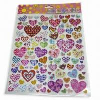 China Non-toxic Stickers, Various Shapes, Sizes and Designs are Available wholesale