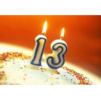 China Safe Custom Birthday Cake Candles , Little Number Wedding Anniversary Candles wholesale