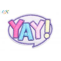 China Kids Cute Stock Embroidered Patches Iron On Backing Shape customized wholesale