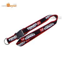 China Printed Lanyard neck polyester lanyard with a key ring and ABS buckle wholesale