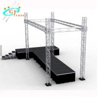 China Booth Box Square Lighting Truss System For Exhibit And Display Trade Show wholesale