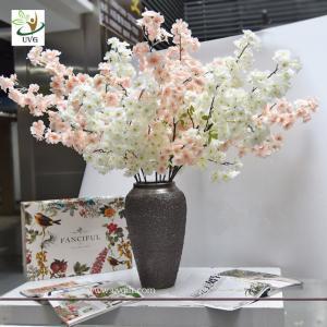 China UVG china supplier silk cherry blossom tree branch decor for wedding vase use CHR167 wholesale