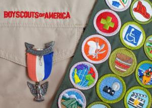 China Machine Washable Heat Seal Boy Scout Patch Merit Badge For Pocket wholesale