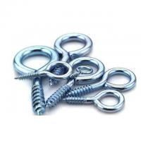 China Hardening Zinc Plated Screw Eyes Round Head For Buildings / Engeering Equipment wholesale