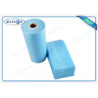 Quality 100% Flesh PP Nonwoven Bed Sheet , Medical Bed Sheets Blue Color Packing In Roll wholesale