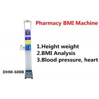 China Pharmacy Height And Weight Measuring Scale With Blood Pressure Machine DHM - 600B wholesale