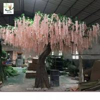 China UVG WIS007 6m pink huge silk wisteria blossom fake trees for weddings wholesale