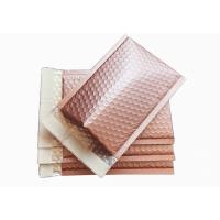 China Rose Gold Metallic Bubble Envelopes , 6 X 9 Metallic Foil Bubble Mailers Self Seal wholesale