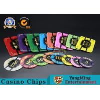 China Square Crystal Acrylic Poker Chips With Custom Logo / Super Touch Texture Poker Plaque wholesale