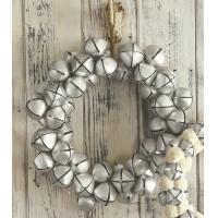 Christmas holiday jingle bell wreath ornament
