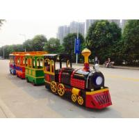 China Colorful Painting Shopping Mall Train , FRP Material Trackless Train Ride wholesale
