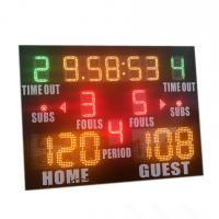 China Popular Size Small High School Basketball Scoreboard With Standard Layout wholesale