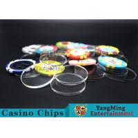 Acrylic Plastic Separate Customized Poker Chips For Gambling Dedicated Using for sale