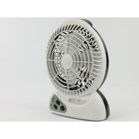 China Plastic 2300mAh LED Rechargeable Fan 3 PCS LED With Charging Cable on sale