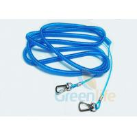 China Stainless Steel Wire Fishing Rod Lanyard Safety Blue PU Coated Rod Rope 15M wholesale