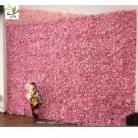 China UVG cheap wedding backdrop design plastic grid artificial flower wall and arch for wedding decor CHR1142 wholesale