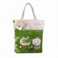 China Cotton shopping bag, measures 35x30x12cm wholesale