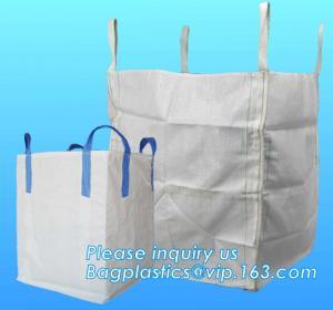 China U-type competitive price 100% PP breathable bulk big woven fibc bags mesh jumbo bag for firewood potato, BAGPLASTICS, wholesale