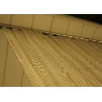 China Decoration Aluminum Coil Metal Wire Mesh Curtain With Custom Surface Finish wholesale