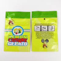 China Professional Yellow  Plastic Herb Bags Lemon Cherry Gelato Pouch Eco Friendly wholesale