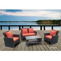 China Comfortable Outside Patio Seating Sets With Cushion PE Wicker Modern Style wholesale