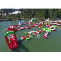 China 35x30m Giant Floating Island Inflatable Floating Water Park with 0.9mm Pvc Tarpaulin wholesale