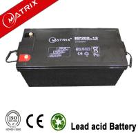 China Matrix 12v 200ah Solar battery wholesale