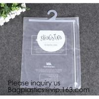 China Biodegradable Compostable pac Hanger Garment Underwear Clothes Package Hanging Hook Plastic Bag With Self-Adhesive Seal wholesale