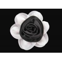 China Brilliant Black and White Fabric Flower Wrist Corsage Lovely for Dress And Hat wholesale