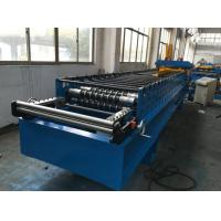 China 7.5kw Corrugated Sheet Metal Roll Forming Machine With Electrical Decoiler wholesale