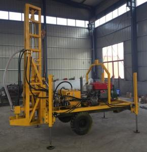 China 90r/Min 18.5kw Well Drilling Machine Trailer Mounted wholesale