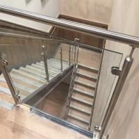 China Price Of Modern Stair Stainless Steel Balcony Glass Terrace Railing Design Manufacturer wholesale