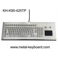 Buy cheap USB/PS2 Interface Metal Computer Keyboard Stainless Steel Kiosk Touchpad from wholesalers