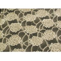 China Eco-Friendly Brushed Lace Fabric Yellow , Garment Trimming Anti-Static Material CY-LQ0039 wholesale