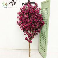 China UVG Festive Wreaths Latex Flower Arrangements Rose Color Artificial Cherry Tree Branches wholesale