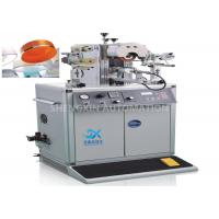 China Irregular Caps Semi - Automatic Hot Foil Plastic Stamping Machine 0.6MPa Compressed Air wholesale