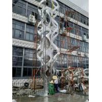 China Curve Shaped  Outdoor Statues And Sculptures Silver Color Mirror Finished Surface wholesale