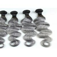 China Gray Ombre Colored Human Hair Extensions Brazilian Body Wave Hair wholesale