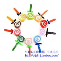 China Ice cream children Christmas wedding candy lover reply cake towel aureate bowknot lollipop wholesale
